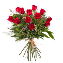12 Long-stemmed Red Roses